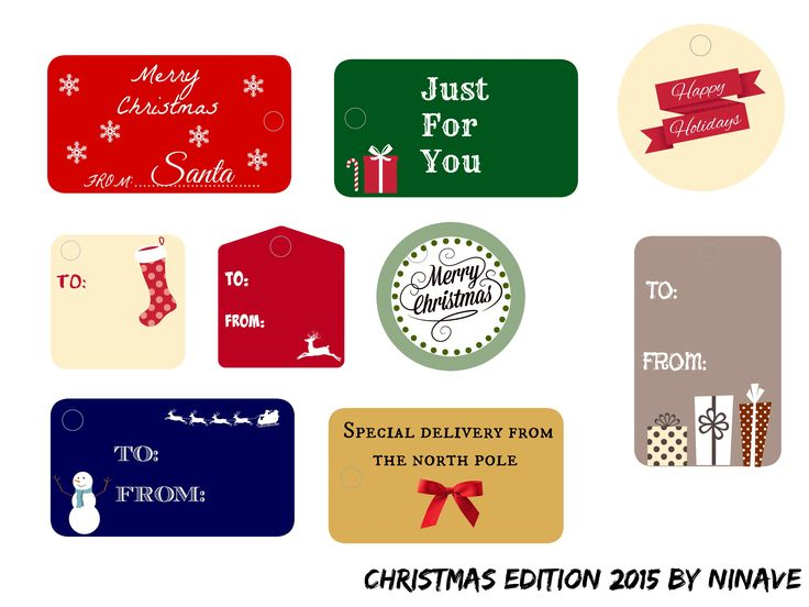 COLOR CHRISTMAS TAGS 2015 #2015 #2016 #gifts #DIY #tags #prinatble #christmasgift #christmas: