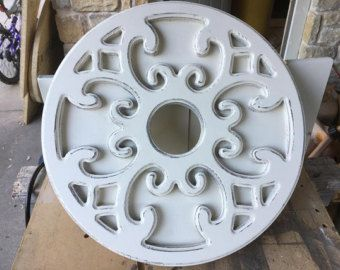 Rustic Ceiling Medallion (wood)