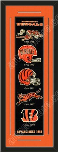 Heritage Banner Of Cincinnati Bengals With Team Color Double Matting-Framed Awesome & Beautiful-Must For A Championship Team Fan! Most NFL Team Banners Available-Plz Go Through Description & Mention In Gift Message If Need A different Team Art and More, Davenport, IA http://www.amazon.com/dp/B00F1CB93E/ref=cm_sw_r_pi_dp_UlfKub0CCV0XD