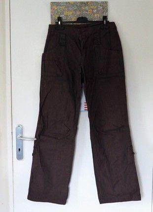 À vendre sur #vintedfrance ! http://www.vinted.fr/mode-femmes/autres-pantalons/50549207-pantalon-en-toile-marron