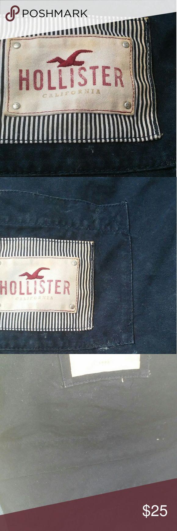 Hollister Tote Bag Large Navy Blue Canvas, durable a d convenient. Hollister Bags Totes