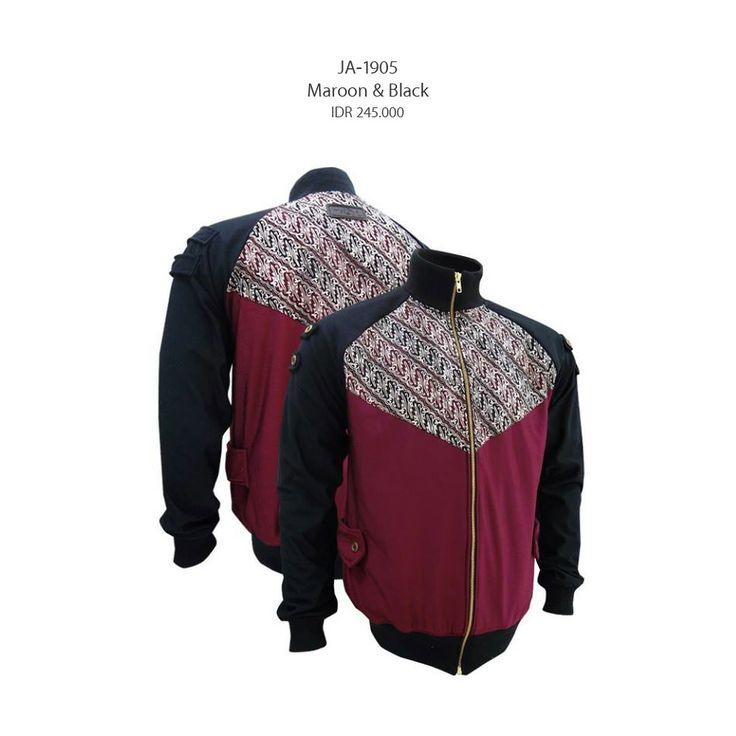 Maroon & Black JA-1905  #jaketbatikmedogh  http://medogh.com/couple-jaket-sarimbit-batik/couple-jaket-batik