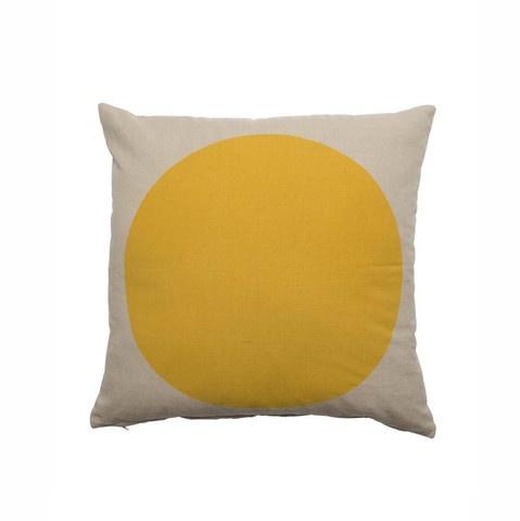 Spot cushion - yellow