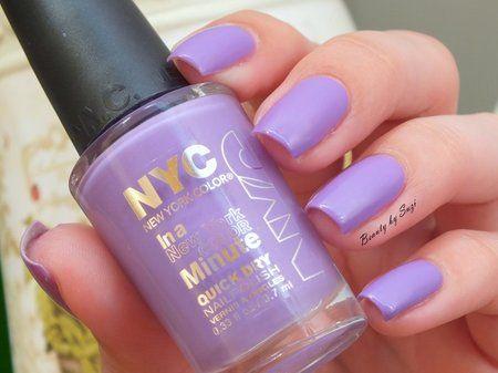 NYC Quick Dry Nail Polish, 355 Lavender Blossom