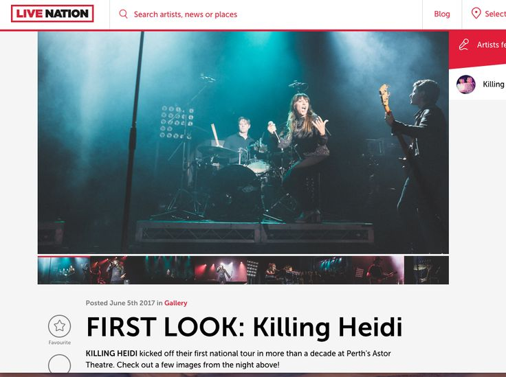 Live Nation Review - Killing Heidi - Astor Theatre Photos