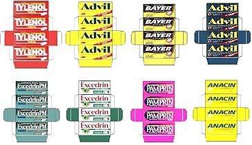 Miniature printable - dollhouse medicine cabinet - Advil, exceeding etc.