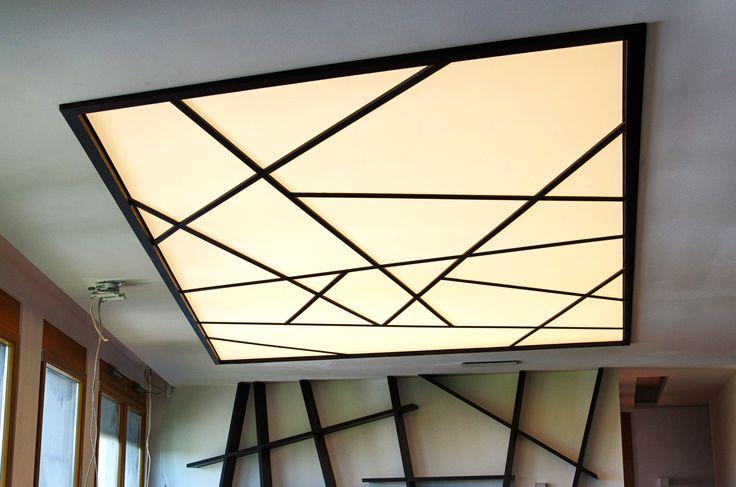 """Penthouse Warsaw, Wilanów - Lamp made by """"W Kwadrat Studio"""""""
