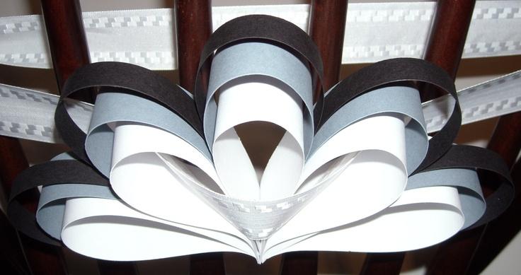 DIY Wedding chairbacks (100) - Black and white wedding decorations - DIY wedding decorations - Paper wedding decorations - party decorations. $62.50, via Etsy.