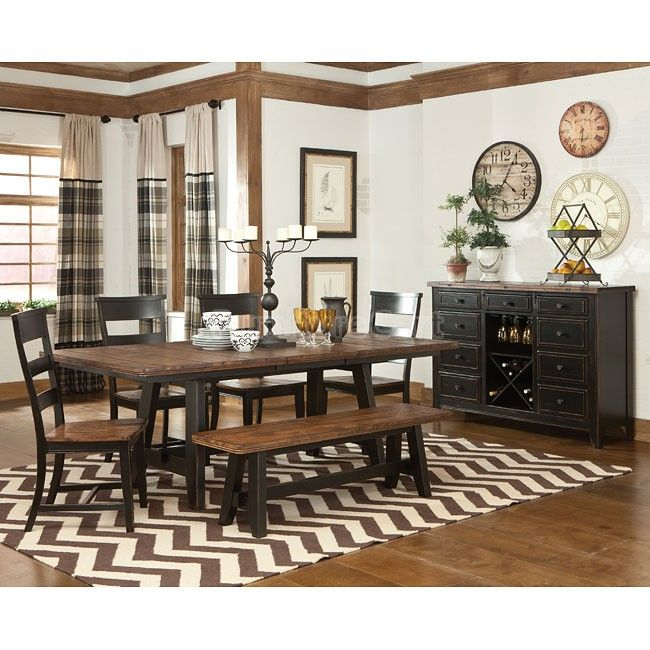 Winchester Extension Dining Room Set W Bench