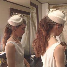 WEDDING HAIR ウェディングヘア ポニーテール帽子ヘアアレンジトークハット #weddinghair #wedding #hairstyles #hairarrange #ウェディング #ヘアスタイル #トーク帽 #ポニーテール #ponytail #hat #bridalhair #BiE#hairmake #hairmakesalon #bridalhairmake #hair #make #hairstyle #bride #bridal #bridalhair #ビーイー#ヘアメイクサロン #ブライダルヘアメイク #ブライダルヘア #ヘアメイク #ヘアアレンジ #ヘアセット#プレ花嫁#花嫁 #2次会ヘア #thesodohhigashiyamakyoto #sodoh東山