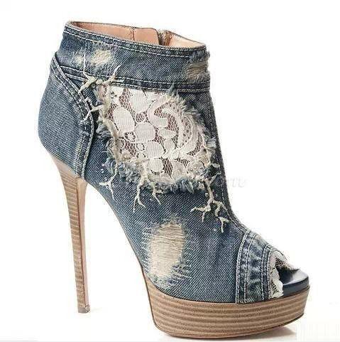 1000  images about Denim Footwear on Pinterest | Designer boots ...