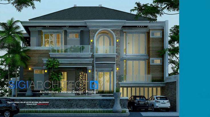 desain rumah klasik modern 2 lantai