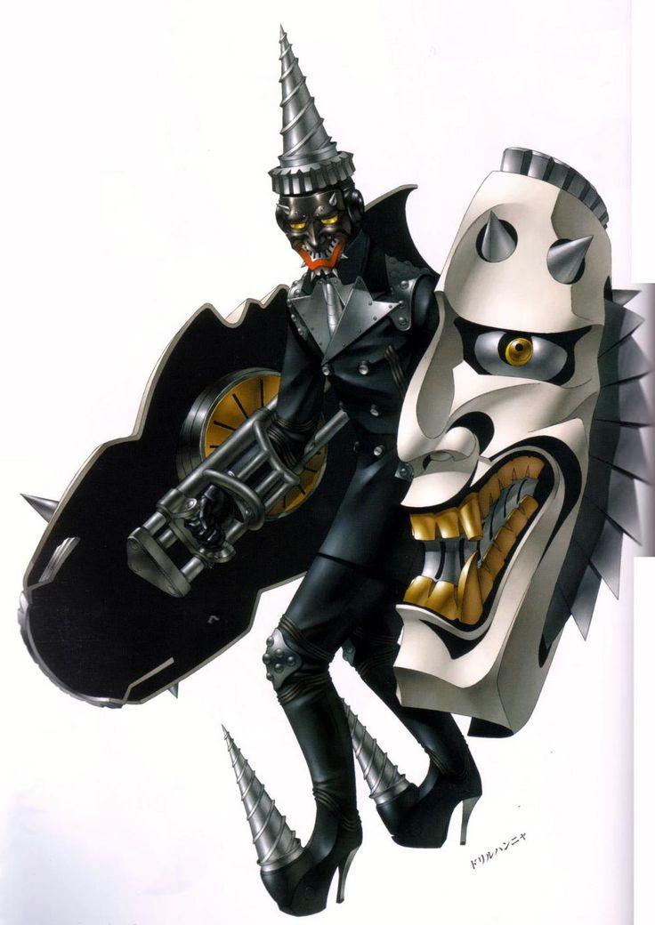 Hannya's design in Persona 2: Innocent Sin