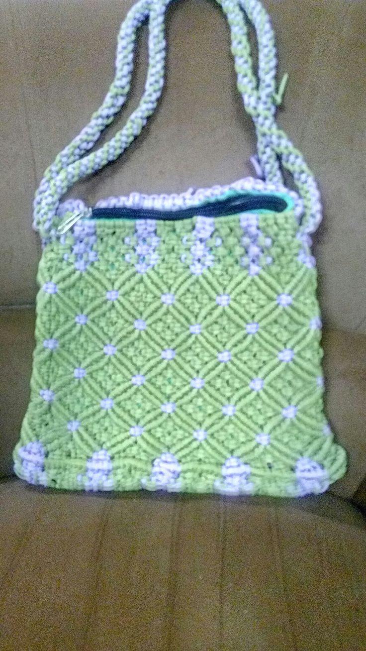 Green and purple bag