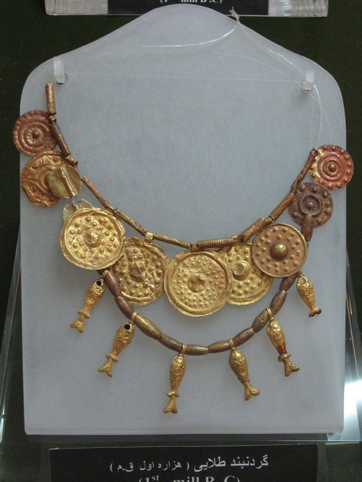 Gold work from 1st millenium BC- National museum of Tabriz تزیینات طلایی هزاره اول پیش از میلاد – موزه آذربایجان
