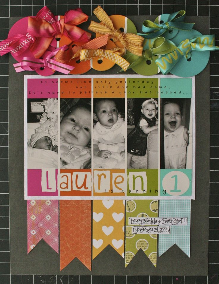 baby's first birthday announcement/invitation.