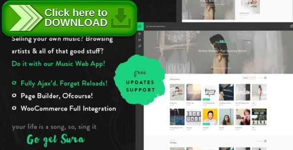 [ThemeForest]Free nulled download Sura - A Music Web App WordPress Theme from http://zippyfile.download/f.php?id=32127 Tags: artist theme, band theme, like spotify, merchandise, music app, music platform, music streaming, Music theme, music web app, music web platform, sell songs wordpress, singer theme, Spotify, stream music theme