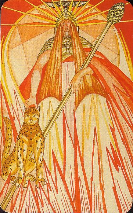 Aleister Crowley Thoth Tarot- Queen of Wands