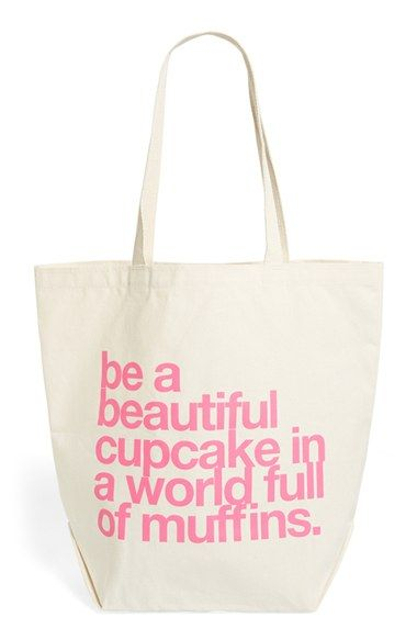 Dogeared 'Big' Canvas Tote available at #Nordstrom