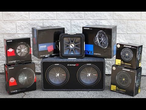 KICKER Car Audio Subwoofers - Lineup