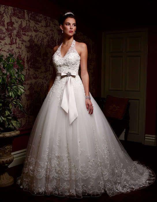 Бесплатная доставка 2015 повязку топ без бретелек бисероплетение лук пояса гипюр вышивка холтер кружева аппликации на заказ белое свадебное платье