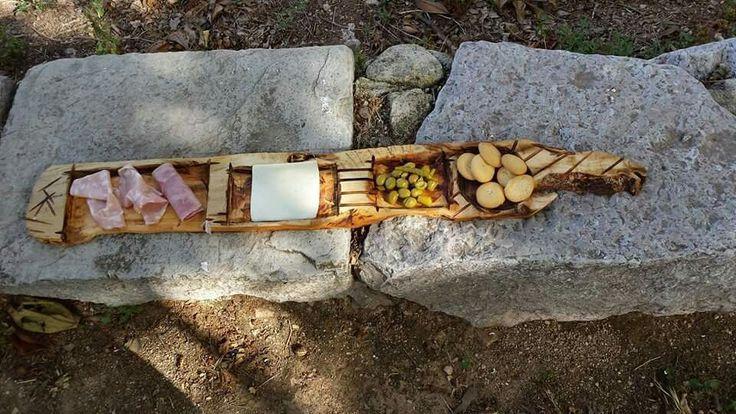 Tabla de pincho de madera de olivo