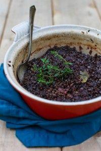 Beet Braised Lentils with Thyme and Apple | Simple Bites #recipe #dinner #vegetarian #meatlessmonday