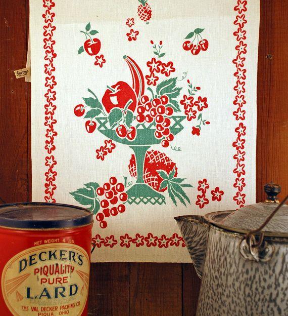 118 Best Vintage Kitchen Towels & Linens Images On