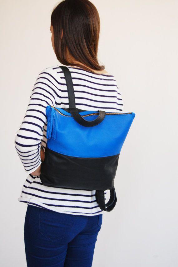 Black leather backpack, leather school bag, womens backpack, backpacks for women, leather backpack black, leather backpacks, Made to order