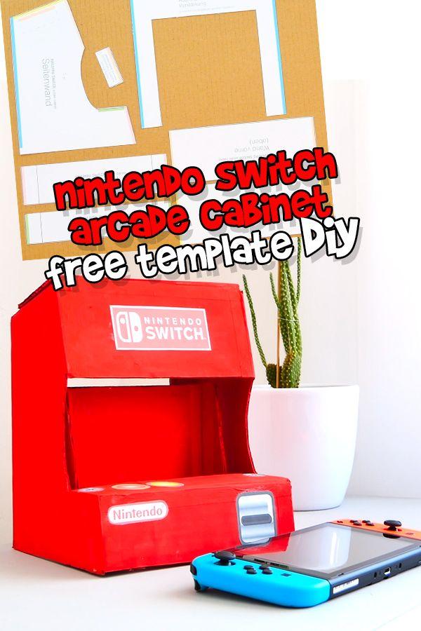 Nintendo Switch Arcade Cabinet Bauen Diy Template Free