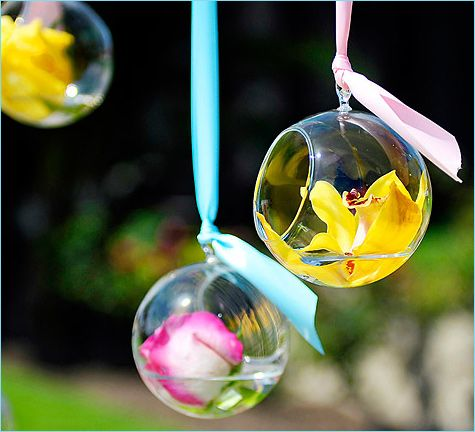 Have these hanging down with tealights in them (: