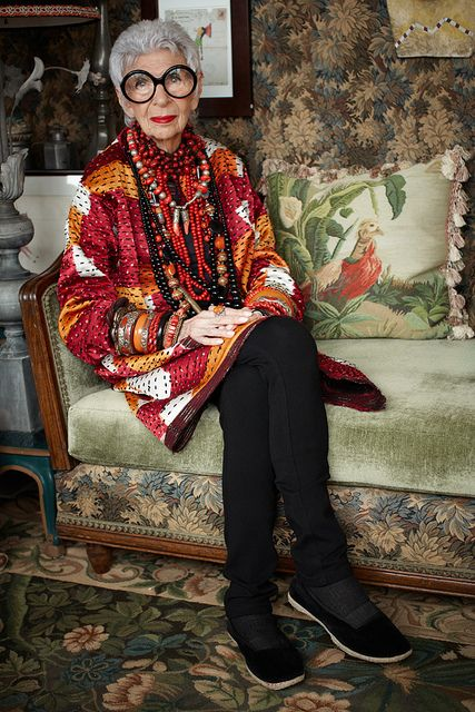 Iris Apfel by andreshernandez, Photograph by Andres Hernandez www.andreshernandez.us