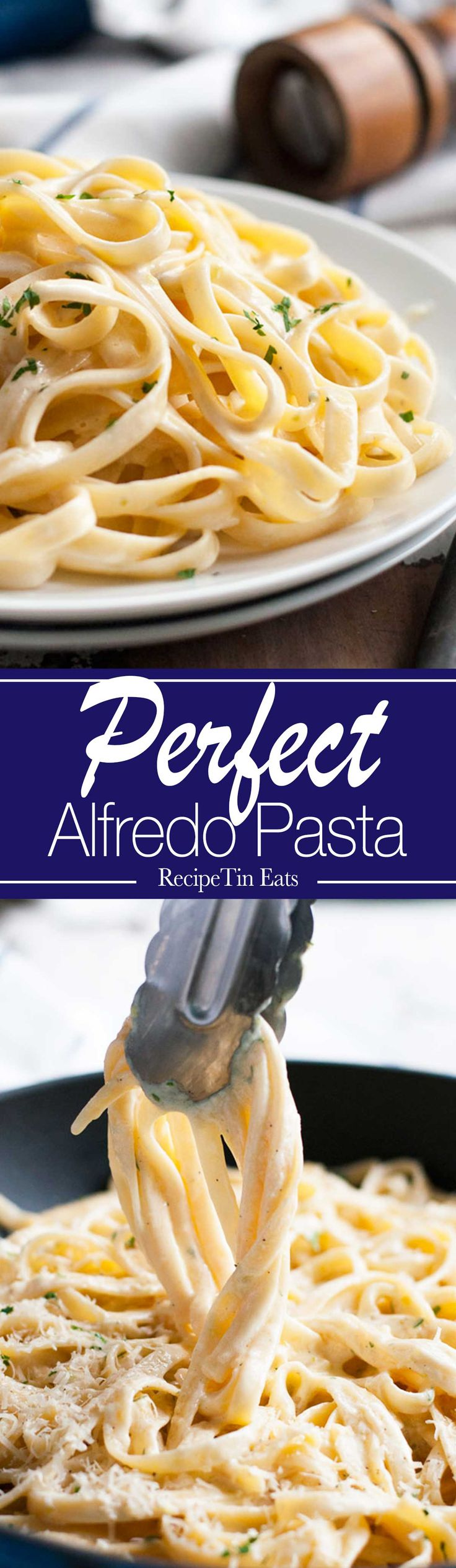BEST Alfredo Pasta | Made this for a dinner party, my friends said it was JUST LIKE what you get at PROPER Italian restaurants!!!