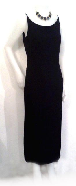 Abito nero di seta anni '90. Collana by J Vintage - Black silk dress 90s. Necklace by J Vintage. (http://www.facebook.com/#!/jsvintage)