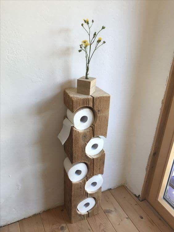 Original Comme Range Papiers Toilettes Craft Distributeur Papier Toilette Deco Salle De Bain