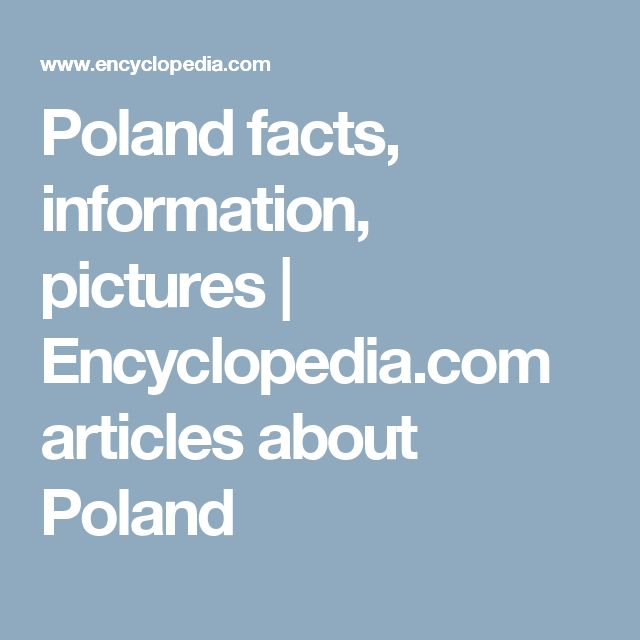 Poland facts, information, pictures | Encyclopedia.com articles about Poland