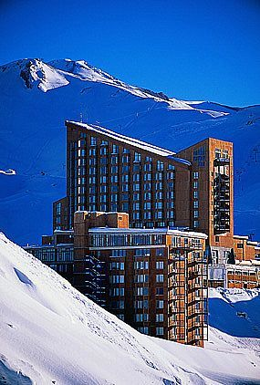 Valle Nevado in the Andes (Chile) -