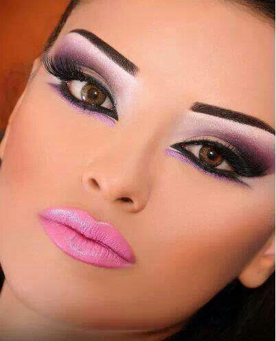 Beautiful pink & purple makeup