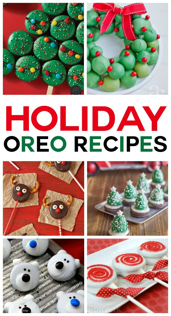 So many delicious Oreo recipes perfect for the holidays. Yum!