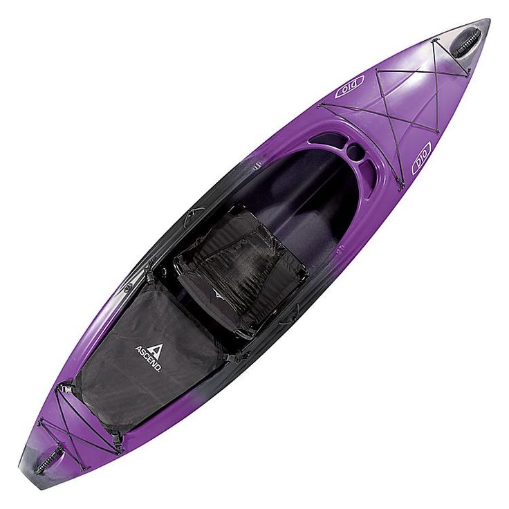 "Ascend® D10 Sit-In Kayak - Purple | Bass Pro Shops // Customer mariasophia says: ""I have had this kayak for 2 years now and am still as in love with it as I was when I bought it. Easy to maneuver, great for fast or slow water, relaxing trips or more wild trips, and great to fish out of."" #mothersdaygifts #kayaking #AscendOutdoors"