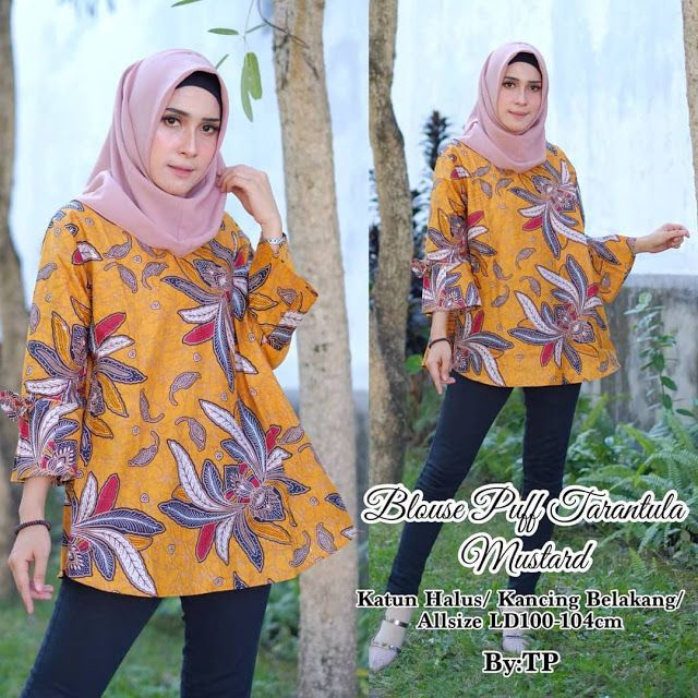 46 Model Tunik Batik Elegan Modern 2019 Model Baju Muslim