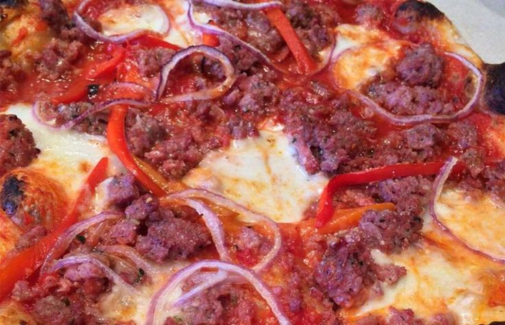 #44 PIZZERIA DELFINA, SAN FRANCISCO: 101 Best Pizzas in America for 2016 (SALSICCIA PIZZA: HOUSE-MADE FENNEL SAUSAGE, TOMATO, BELL PEPPER, ONION, MOZZARELLA).San Francisco's Mission has changed over the past decade, but Mission visionaries and Pizzeria Delfi...