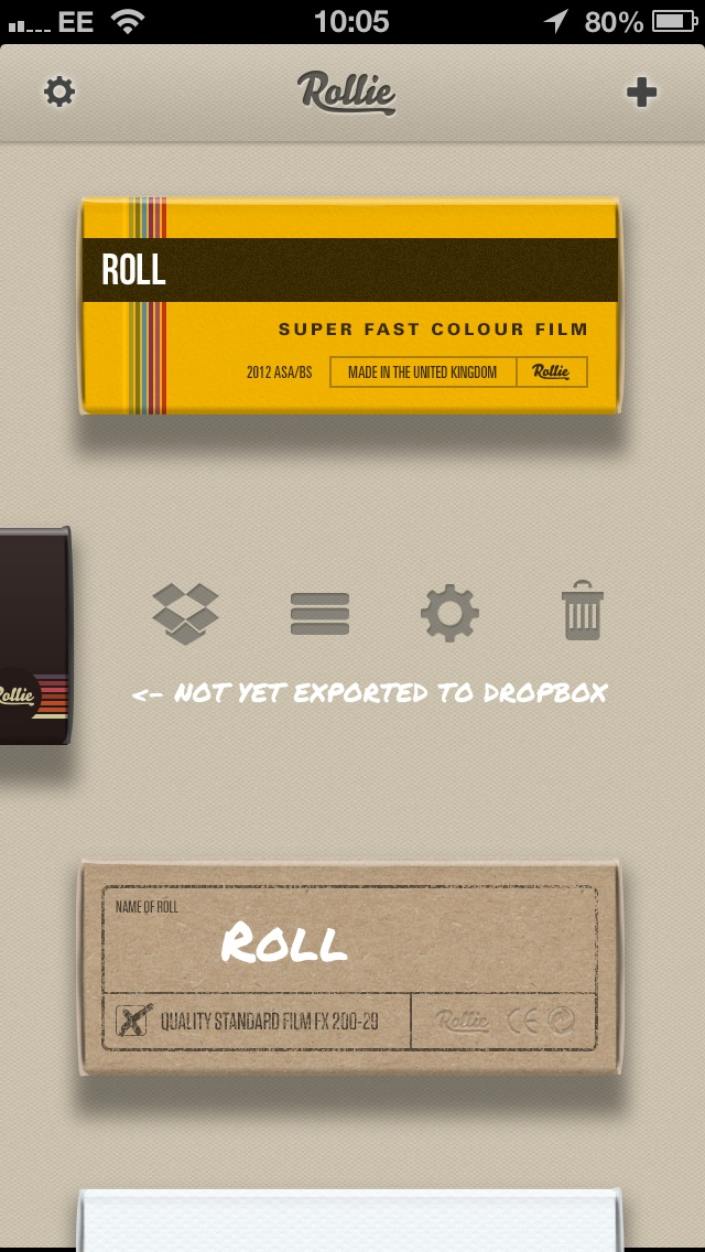 Rollie UI  Camera and photo manager