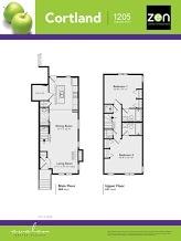 Cortland floorplan in Auburn Bay, Calgary AB