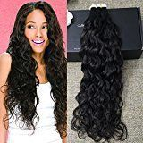 Full Shine 16 inch 50gram 20 Pcs Per Package Natural Black Tape in Wavy Extensions Remy Tape in Hair Extensions Human Hair Professional Hair Extensions
