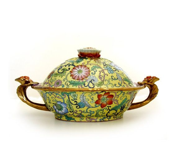 Vintage Asian Chinese Export Famille Rose Canton by EncoreEmporium