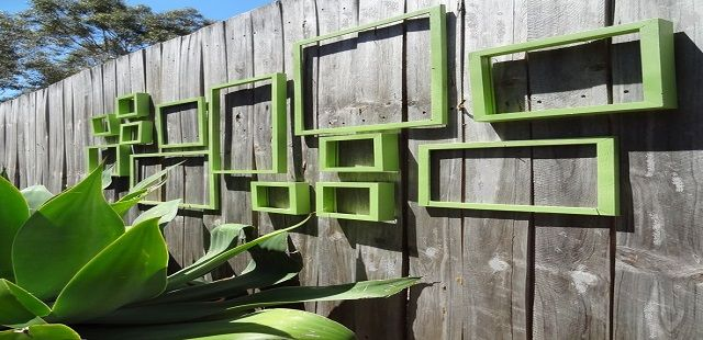 Decorate The Outdoor Wall with Blank Frames