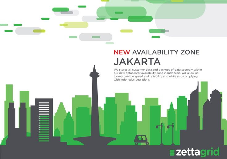 New Availability Zone in Jakarta. Now we are more close with our Indonesia Costumers.  Ayo kunjungi website kami di www.zettagrid.id atau follow twitter @zettagridID