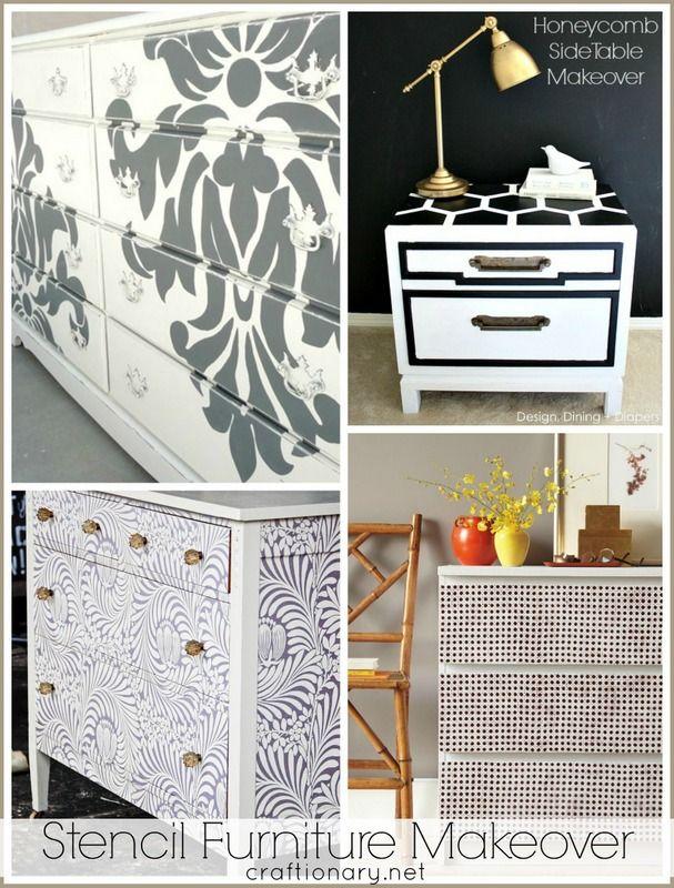 Best stencil furniture makeover #furniture