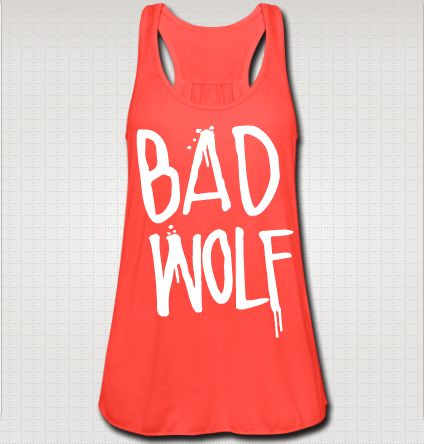 Coral Bad Wolf - doctor who tank from Fandom Planet - I must own this.